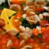 Овощной суп с белой фасолью и макаронами (веган, БУ)