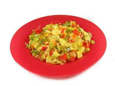 овощное рагу с яйцами