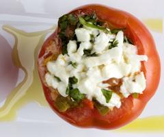 помидоры фаршированные грибами и овощами с сыром