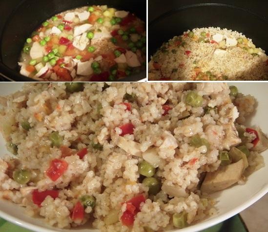 Ячневая каша рецепт с овощами и куриной грудкой