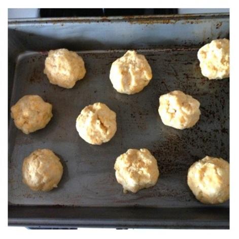 Нутовые булочки с сыром