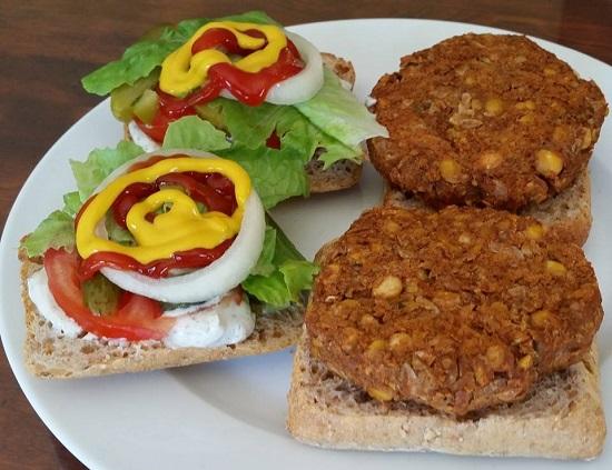чечевично-нутовый гамбургер